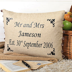 Anniversary Present Cushion With Motifs