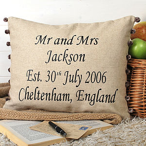 Anniversary Gift Cushion