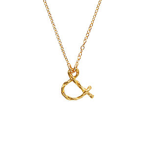 18k Gold Plated Ampersand Necklace - necklaces & pendants