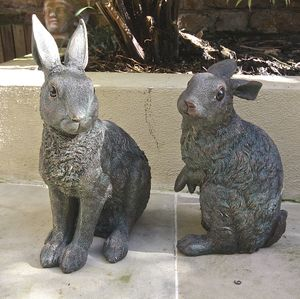Spring Hare Garden Sculpture - easter home