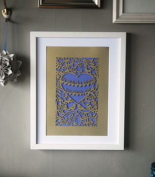 Personalised Wedding Unframed A4 Papercut