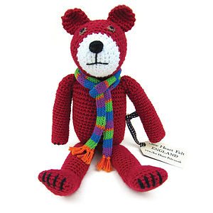 Bertie Bear Hand Crocheted Toy