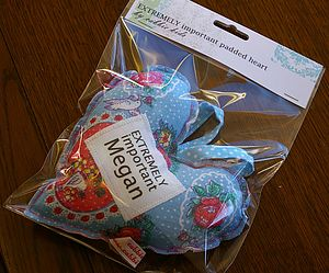 Personalised Padded Heart