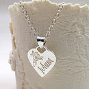 Personalised Silver Mum Heart Necklace