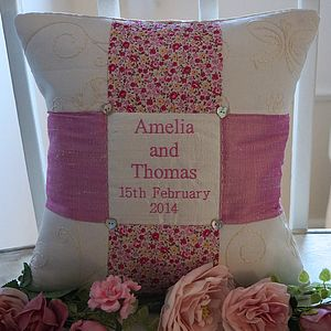 Wedding Cushion Name And Date - cushions