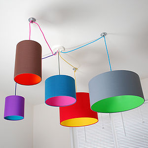 Pick And Mix Drum Lampshade Choice Of Colours - bedroom
