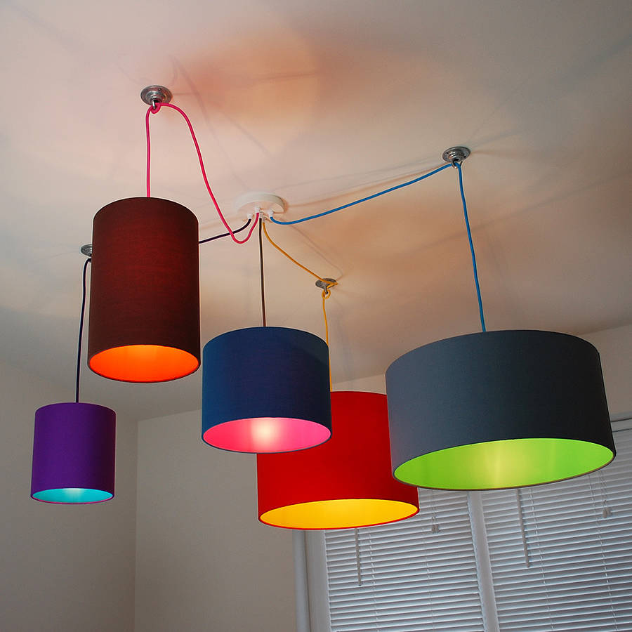 Pick And Mix Drum Lampshade Choice Of Colours By Quirk