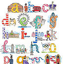 A to Z of London Print