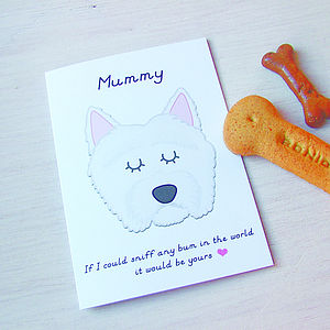 Dog Greeting Card - mother's day cards