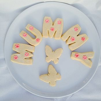 Mothers Day Name Shortbread Letters