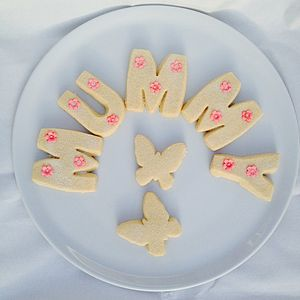 Name Shortbread Letters - gifts for mothers