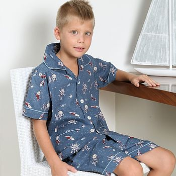 Space Print Short Pyjamas Set