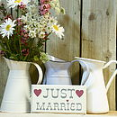 Vintage Style Just Married Hanging Sign