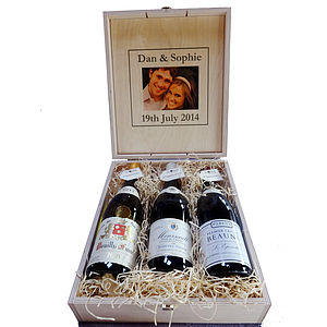 Three Bottle Connoisseur Wine Case - wines, beers & spirits