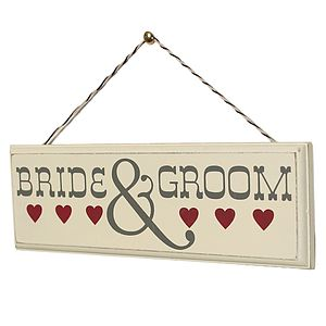 Vintage Style Bride And Groom Sign - outdoor decorations