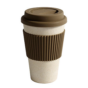 Bamboo Eco Coffee Cup With Lid - garden