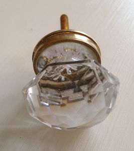 Crystal And Brass Drawer Knob - door knobs & handles