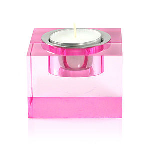 Tea Light Candle Holder, Pink