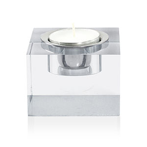 Tea Light Candle Holder, Clear - kitchen