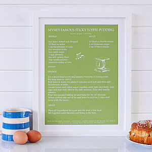 Personalised 'Signature Dish' Print - aspiring chef