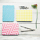 Set Of Three Geometric Notebooks