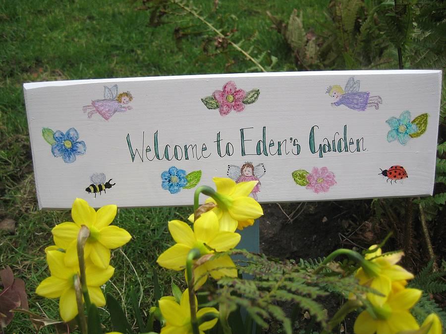 a garden wooden sign