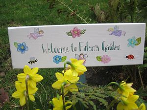 Bespoke Fairy Garden Sign - art & decorations