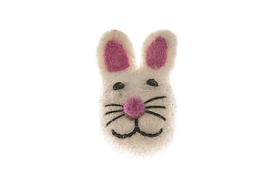 Handmade Felt Rabbit Bunny Brooch - women's jewellery