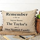 The Nice Normal Family Cushion