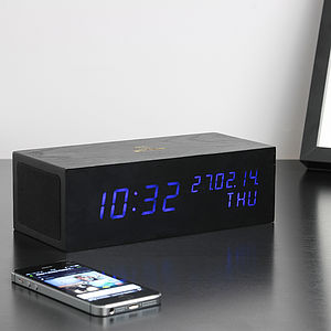 Black Music Click Clock - bedroom