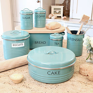 Vintage Blue Kitchen Storage Collection
