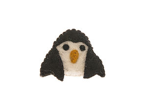 Handmade Felt Penguin Brooch - children's accessories