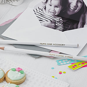 Mother's Day Personalised Pencils - best gifts for mothers