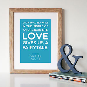 Personalised 'Love' Quote Print