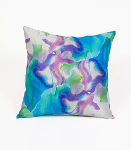 Ink Cog Cushion - patterned cushions