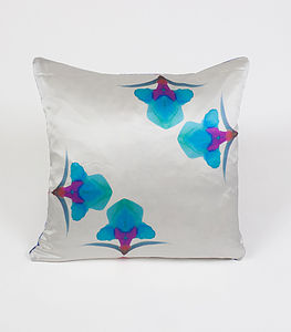 Ink Spin Cushion - living room