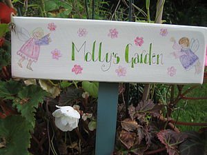 Bespoke Fairy Garden Sign