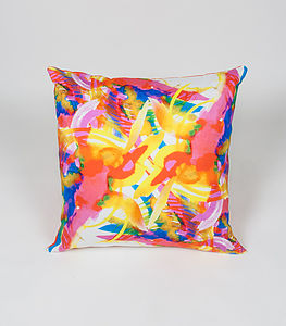 Ink Jungle Cushion - living room