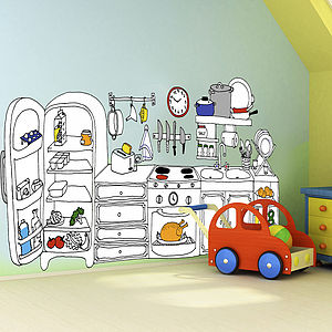 Children's Kitchen Wall Sticker