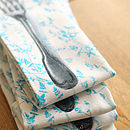 Set Of Four Fork Design Napkins
