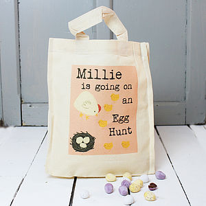 Personalised Easter Egg Hunt Bag - children's easter