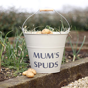 Personalised Enamel Bucket - gifts for the garden