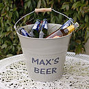 Personalised Enamel Bucket