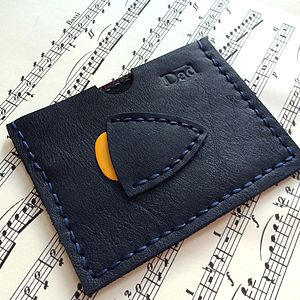 Midnight Blue Plectrum And Card Holder - purses & wallets
