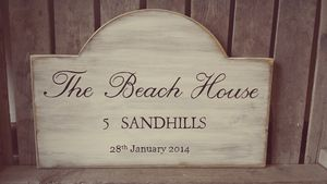 Personalised Hand Painted Vintage Style Sign