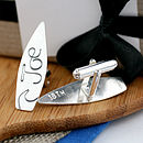 secret message surf board cufflinks