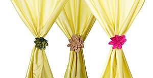 Handmade Felt Flower Curtain Tie - curtains & blinds