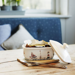 Cornish Coastal Butter Dish - kitchen