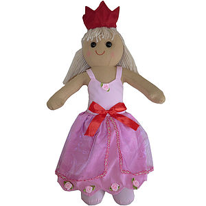 Princess Rag Doll With Crown