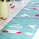 Bird Cage Vintage Table Runner